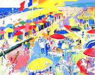 La Plage Au Deauville, France 1986 Limited Edition Print by LeRoy Neiman - 1