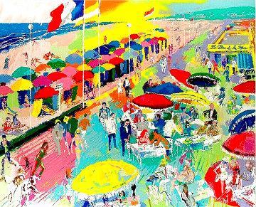 La Plage Au Deauville, France 1986 Limited Edition Print - LeRoy Neiman