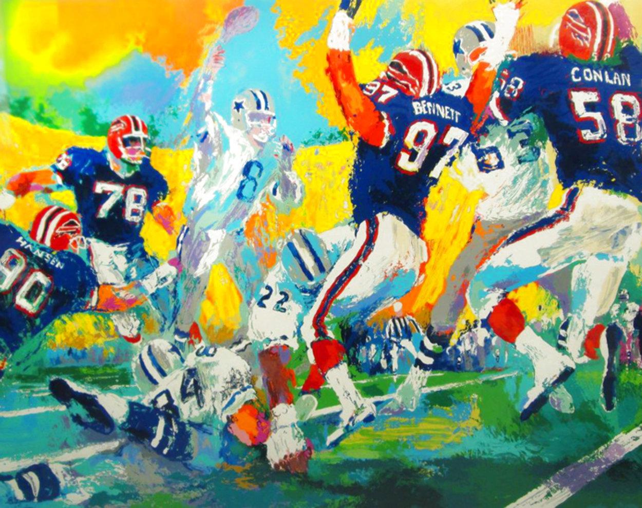 Cowboys Bills Superbowl XXVII AP  Limited Edition Print by LeRoy Neiman