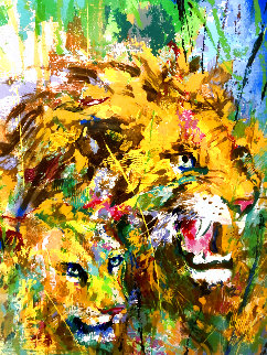 Two Lions 1997 Limited Edition Print - LeRoy Neiman