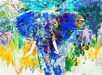 Bull Elephant 1997 Limited Edition Print - LeRoy Neiman