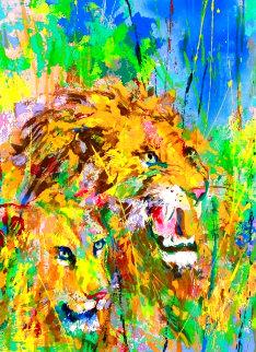 Safari Suite: Lions 1997 Limited Edition Print - LeRoy Neiman