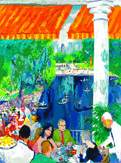 Boathouse, Central Park 2003 Limited Edition Print - LeRoy Neiman