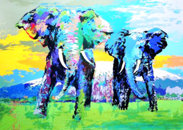 Kilamanjero Bulls Limited Edition Print - LeRoy Neiman