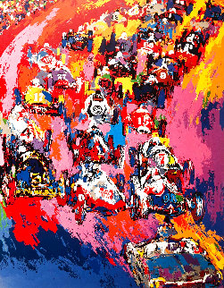 Indy Start AP 1973 Limited Edition Print - LeRoy Neiman