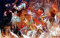 Jazz Players 1961 29x41 Huge Original Painting by LeRoy Neiman - 0
