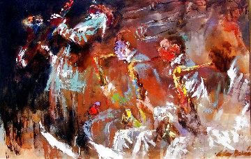 Jazz Players 1961 29x41 Huge Original Painting - LeRoy Neiman