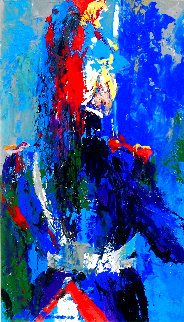 French Honor Guard 1961 25x17 Original Painting - LeRoy Neiman