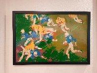 Running Back 1961 26x38 Original Painting by LeRoy Neiman - 1