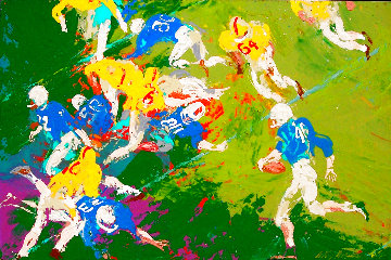 Running Back 1961 26x38 Original Painting - LeRoy Neiman