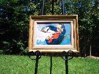 Jascha Heifetz 1967 13x17 Original Painting by LeRoy Neiman - 1