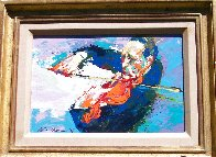 Jascha Heifetz 1967 13x17 Original Painting by LeRoy Neiman - 2