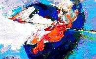 Jascha Heifetz 1967 13x17 Original Painting by LeRoy Neiman - 0