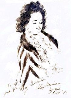Kay Gardella 1971 20x16 Drawing - LeRoy Neiman
