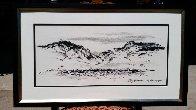 Cody, Wyoming 1955 17x29 Original Painting by LeRoy Neiman - 1
