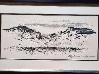 Cody, Wyoming 1955 17x29 Original Painting by LeRoy Neiman - 2