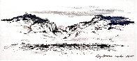 Cody, Wyoming 1955 17x29 Original Painting by LeRoy Neiman - 0