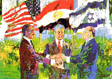 Egyptian Israeli Peace Treaty 1980 HS Carter  Limited Edition Print - LeRoy Neiman