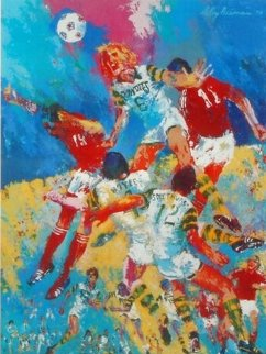 Soccer is a Kick in the Grass Poster 1975 Limited Edition Print - LeRoy Neiman