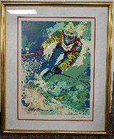 Olympic Skier - Hand Signed Poster 1980 HS  Limited Edition Print by LeRoy Neiman - 1