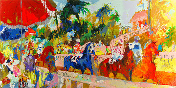 Leaving the Paddock 2008 Limited Edition Print - LeRoy Neiman
