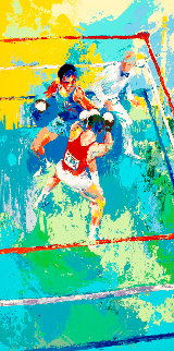 Olympic Boxers AP 1980 Limited Edition Print - LeRoy Neiman