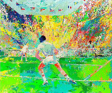 Stadium Tennis AP 1981 Limited Edition Print - LeRoy Neiman