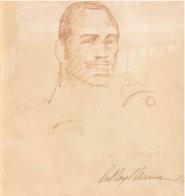 Joe Frazier 12x10 Drawing by LeRoy Neiman - 0
