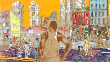 Harlem Streets Cities in Schools 1982 Limited Edition Print - LeRoy Neiman