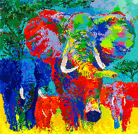 Elephant Charge 1999 AP Limited Edition Print by LeRoy Neiman - 0