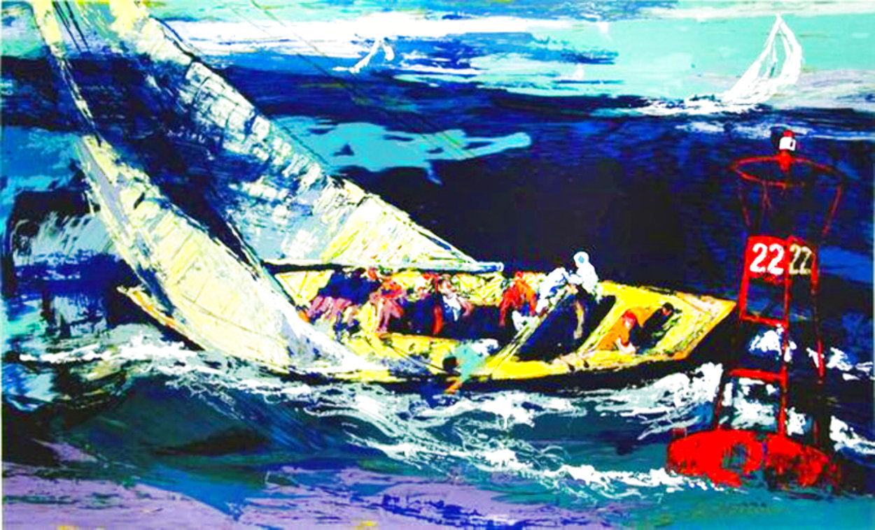 1970 America's Cup, Intrepid Vs Gretel II 2007 Limited Edition Print by LeRoy Neiman
