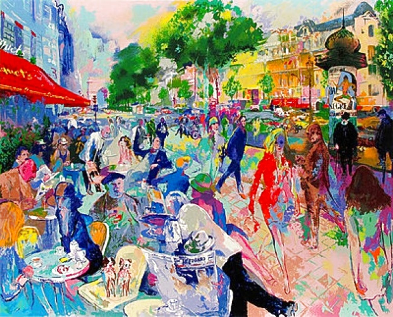 Fouquet's 1993 HS Limited Edition Print by LeRoy Neiman
