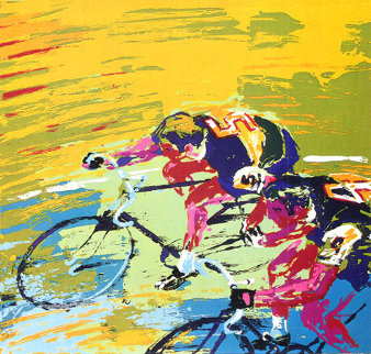 Indoor Cycling 1979 Limited Edition Print - LeRoy Neiman