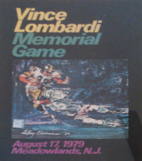 Vince Lombardi Memorial Game Poster  1979 HS Limited Edition Print - LeRoy Neiman