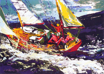 North Sea Sailing 1981 Limited Edition Print - LeRoy Neiman