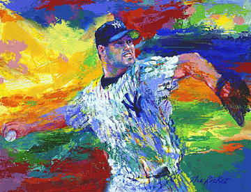 Rocket Roger Clemens 2003  Limited Edition Print by LeRoy Neiman