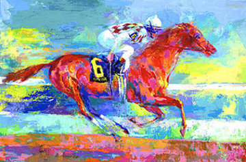 Funny Cide 2004 Limited Edition Print - LeRoy Neiman