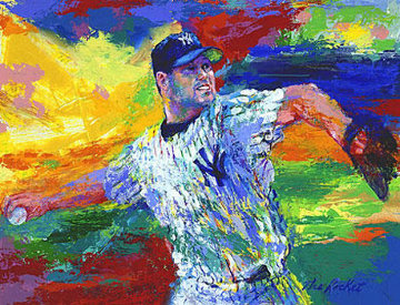 Rocket Roger Clemens 2003 Limited Edition Print - LeRoy Neiman