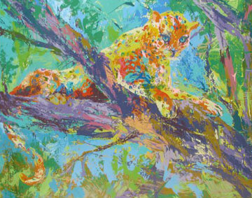 Serengeti Leopard 1972 Limited Edition Print by LeRoy Neiman