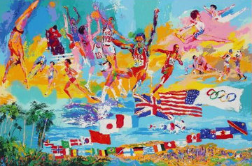 American Gold AP 1984 Limited Edition Print - LeRoy Neiman