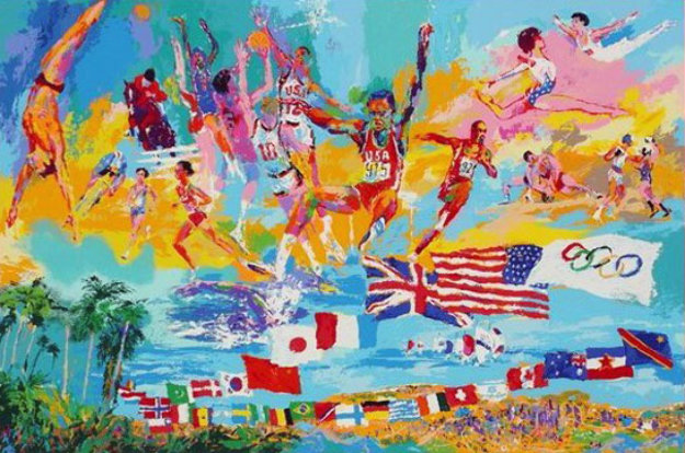 American Gold AP 1984 Limited Edition Print by LeRoy Neiman