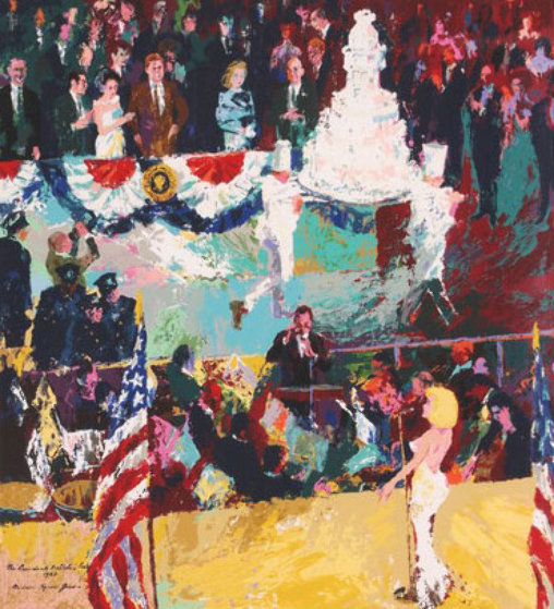 President's Birthday Party (Marilyn Monroe) Limited Edition Print by LeRoy Neiman