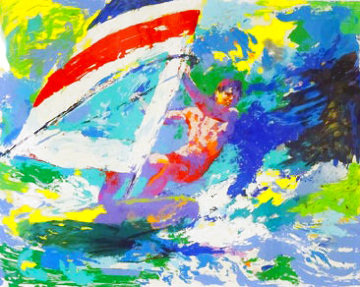 Windsurfer 1984 Limited Edition Print - LeRoy Neiman