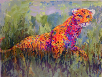 Prowling Leopard 2003 Limited Edition Print - LeRoy Neiman