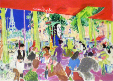 Chez Francis 1997 Limited Edition Print by LeRoy Neiman