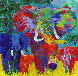 Elephant Charge 1999 Limited Edition Print by LeRoy Neiman - 0