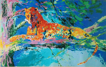 Kenya Leopard AP 1973 Limited Edition Print by LeRoy Neiman