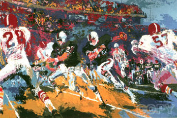 Rushing Back 1974 Limited Edition Print - LeRoy Neiman