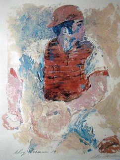 Johnny Bench HS 1970 Limited Edition Print - LeRoy Neiman