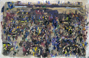 New York Stock Exchange Silk Tapestry 1988 Limited Edition Print - LeRoy Neiman